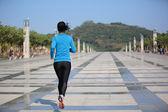Sports woman running — Stock Photo