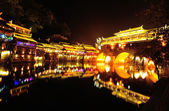 Beautiful night scene of Fenghuang (Phoenix) ancient town — Stock Photo
