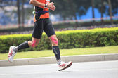Unidentified athletes running at the shenzhen international marathon — Zdjęcie stockowe