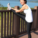 Young woman doing yoga exercises — Stock Photo #41722747