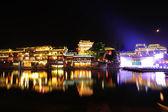 Beautiful night view atancient town — Stock Photo