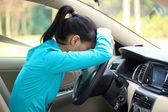 Woman in car — Foto Stock