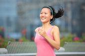 Runner athlete running on road — Stock Photo