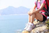 Hiking legs relax — Stock Photo