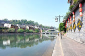 Beautiful landscape of Fenghuang ancient town — Stock Photo