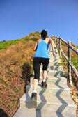 Sportovní žena běží — Stock fotografie