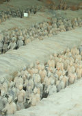 Restored Terracotta Warriors — Стоковое фото