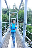 Woma hiker hiking at zhangjiajie national forest — Foto Stock