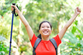Woman in tropical jungle — Stock Photo