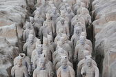 Restored Terra Cotta Warriors — Stock Photo