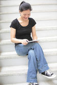 Student use tablet pc — Stock Photo
