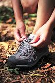 Runner feet — Stock Photo