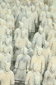 Restored Terracotta Warriors — Stock Photo