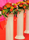Flower posts — Stock Photo