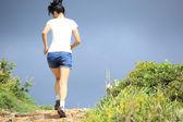 Sporty woman running — Stock Photo
