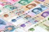 Chinese currencies — Stock Photo