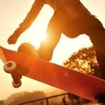 Skateboarding woman — Stock Photo #43095789