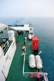 Passenger ship sailing head for Xuwen port — Fotografia Stock