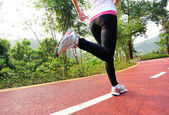 Woman running — Stock Photo