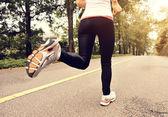 Mulher correndo — Fotografia Stock