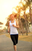 Asian woman runner — Stock Photo