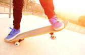 Skateboarding woman — Stock Photo
