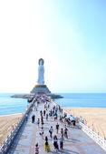 Goddess of mercy statue at seaside — Stock Photo