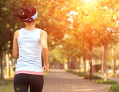 Woman jogging workout — Stock Photo