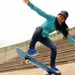Skateboarding woman — Stock Photo #46012333