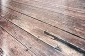 Grunge wood deck — Stock Photo