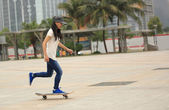 Speeding skateboarding — Stock Photo