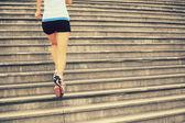 Woman fitness jogging — Stock Photo
