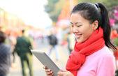 Woman use digital tablet — Foto de Stock