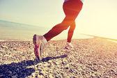Fitness kobieta działa — Zdjęcie stockowe