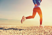 Fitness woman running — Stock Photo