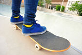 Žena skateboardista — Stock fotografie