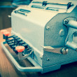 Vintage mechanical adding machine — Stock Photo #23580095