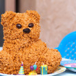 Homemade torte bear for children. Birthday party. — Stock Photo #23580099