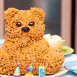 Homemade torte bear for children. — Stock Photo