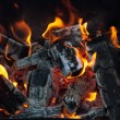 Charcoal, Barbecue fire - Stock Photo