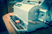 Vintage mechanical adding machine — Stock Photo