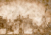 Eski kimyasal malzemeleri laboratuvarı — Stok fotoğraf