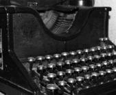 Velha máquina de escrever — Fotografia Stock