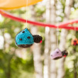Stock Photo: Knitted toys at playground