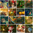 Christmas collage  — Stock fotografie