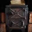 Old fashioned wood burning stove — Stock Photo