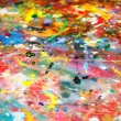 Colorful background of multicolored paint — Stock Photo