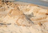 Building a sand castle — Stock Photo