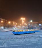 Ciekawe tramwaj — Zdjęcie stockowe
