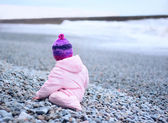 Baby by the sea — Stock Photo